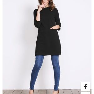 Boden Louise Tunic Dress Black 6 Reg (US)